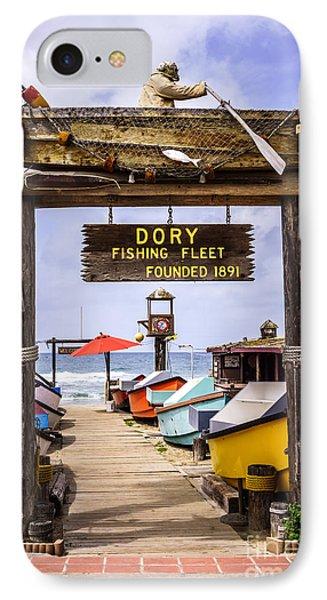 Dory Fishing Fleet Market Newport Beach California IPhone Case by Paul Velgos