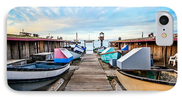 Dory Fishing Fleet Newport Beach California IPhone Case by Paul Velgos