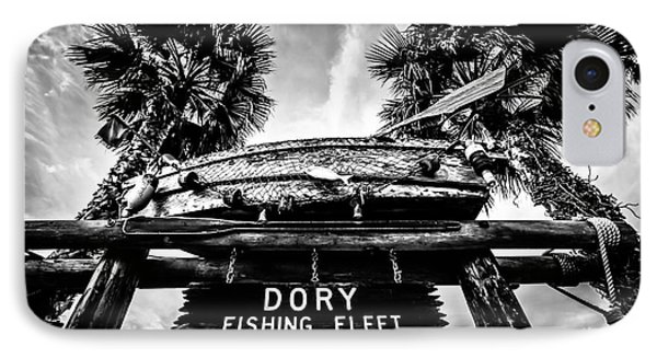 Dory Fishing Fleet Sign Picture In Newport Beach IPhone Case by Paul Velgos