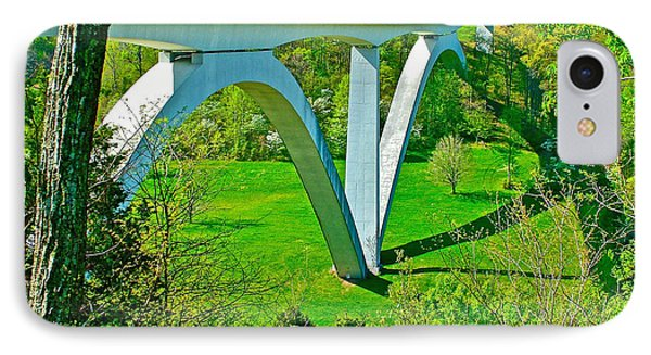 Double-arched Bridge Spanning Birdsong Hollow At Mile 438 Of Natchez Trace Parkway-tennessee Phone Case by Ruth Hager