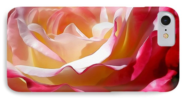 Double Delight Rose Phone Case by Kaye Menner