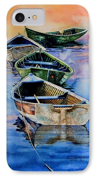 Down East Dories At Dawn IPhone Case by Hanne Lore Koehler