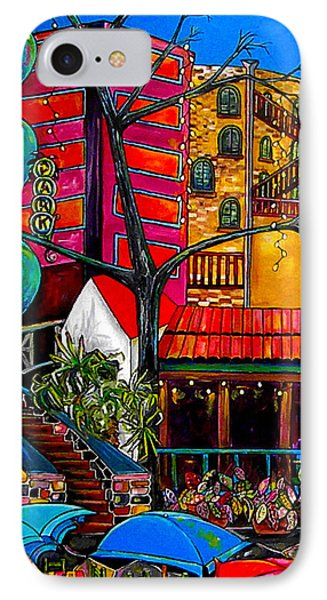 Downtown On The River Phone Case by Patti Schermerhorn