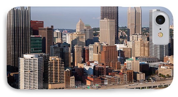 Downtown Skyline Of Pittsburgh Pennsylvania Phone Case by Bill Cobb