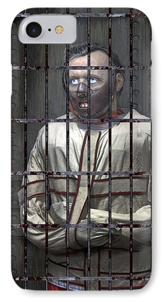 Dr. Lecter Restrained Phone Case by Daniel Hagerman