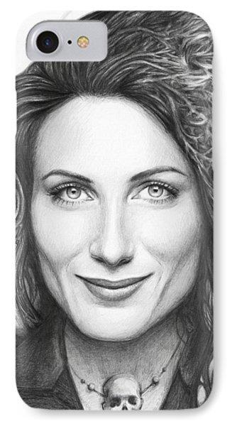 Dr. Lisa Cuddy - House Md IPhone Case by Olga Shvartsur