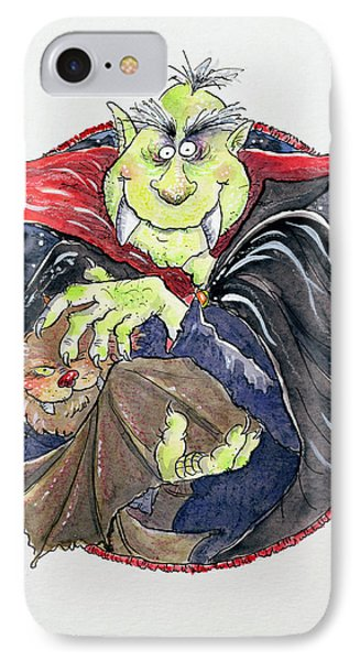 Dracula IPhone Case by Maylee Christie