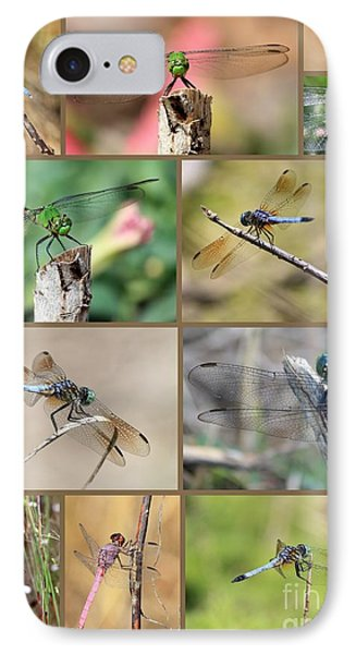 Dragonfly Collage 3 Phone Case by Carol Groenen