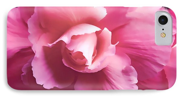 Dramatic Pink Begonia Floral IPhone Case by Jennie Marie Schell