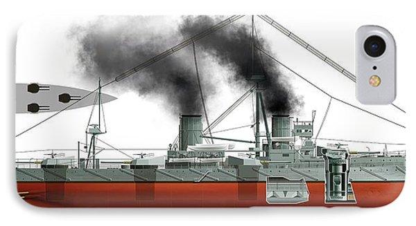Dreadnought Battleship IPhone Case by Jose Antonio Pe�as