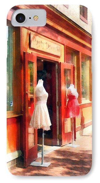 Dress Shop Fells Point Md Phone Case by Susan Savad