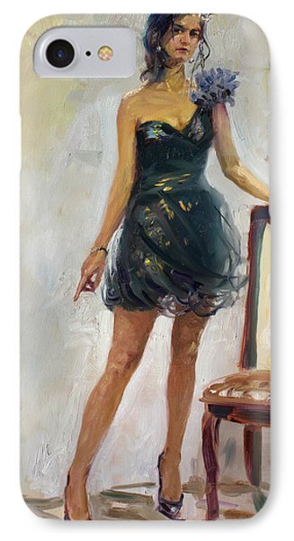Dressed Up Girl IPhone Case by Ylli Haruni