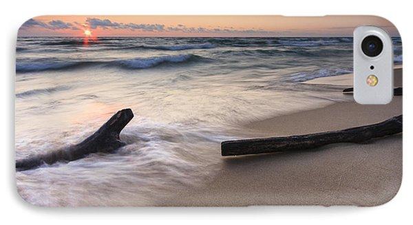 Driftwood On The Beach IPhone Case by Adam Romanowicz
