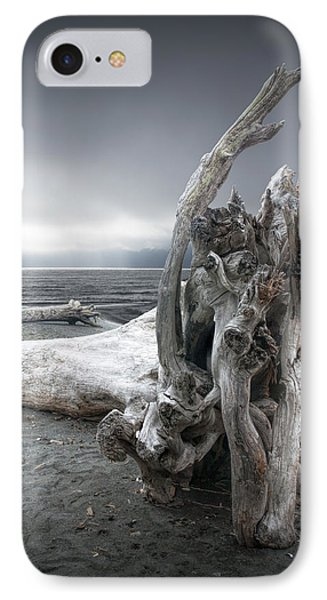 Driftwood On The Beach IPhone Case by Randall Nyhof