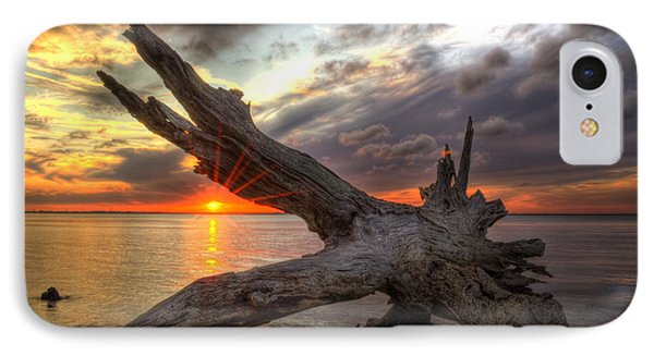 Driftwood Sunset Phone Case by Greg and Chrystal Mimbs