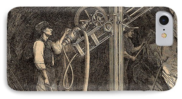 Drilling Machine With Diamond Bit IPhone Case by Universal History Archive/uig