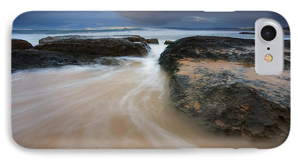 Driven Between The Rocks IPhone Case by Mike Dawson