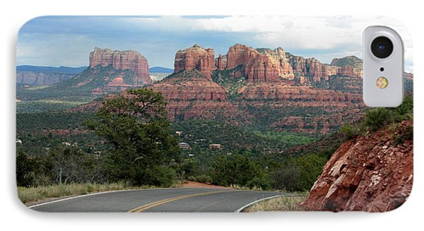 Driving To Sedona IPhone Case by Carol Groenen