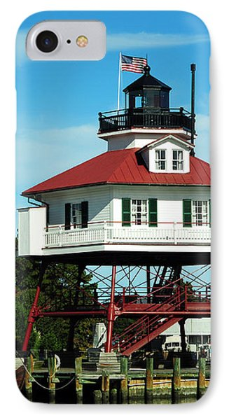 Drum Point Lighthouse IPhone Case by Rebecca Sherman