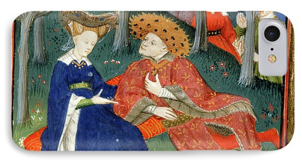 Duke And Ladies In A Garden IPhone Case by British Library