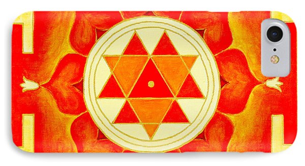Durga Yantra Is A Powerful Yantra For Transformation Of Consciousness IPhone Case by Raimond Klavins