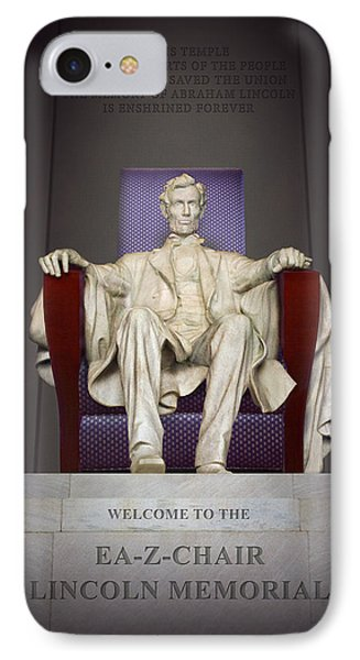 Ea-z-chair Lincoln Memorial 2 IPhone 7 Case by Mike McGlothlen