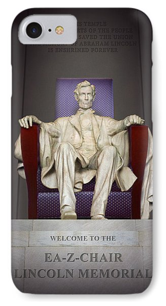 Ea-z-chair Lincoln Memorial 2 IPhone Case by Mike McGlothlen