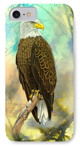 Eagle In Abstract IPhone 7 Case by Paul Krapf