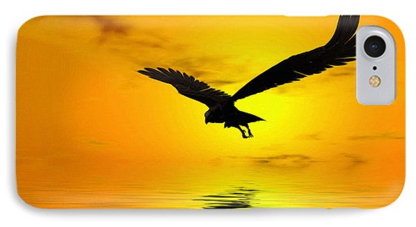 Eagle Sunset Phone Case by John Edwards