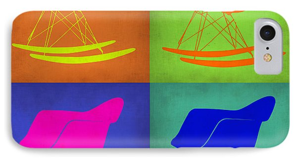 Eames Rocking Chair Pop Art 1 IPhone Case by Naxart Studio
