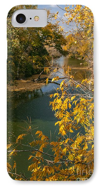 Early Fall On The Navasota Phone Case by Robert Frederick
