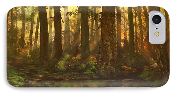 Early Morning Sun On Cannock Chase Phone Case by Jean Walker