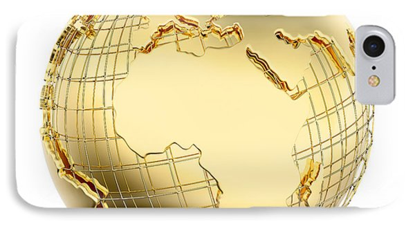 Earth In Gold Metal Isolated - Africa IPhone Case by Johan Swanepoel