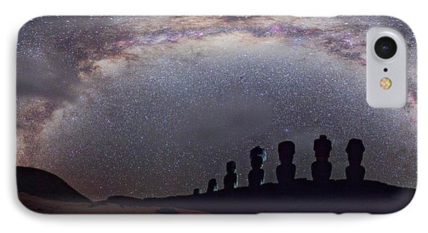 Easter Island Moai And Milky Way IPhone Case by Juan Carlos Casado (starryearth.com)
