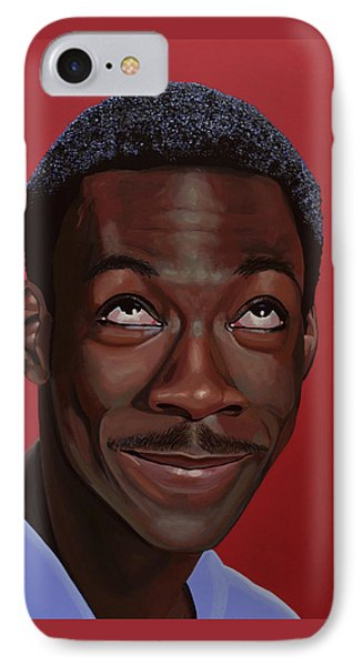 Eddie Murphy Painting IPhone Case by Paul Meijering