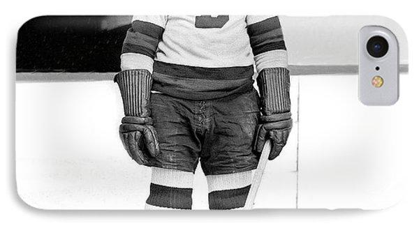 Eddie Shore Hockey Legend IPhone Case by Gianfranco Weiss