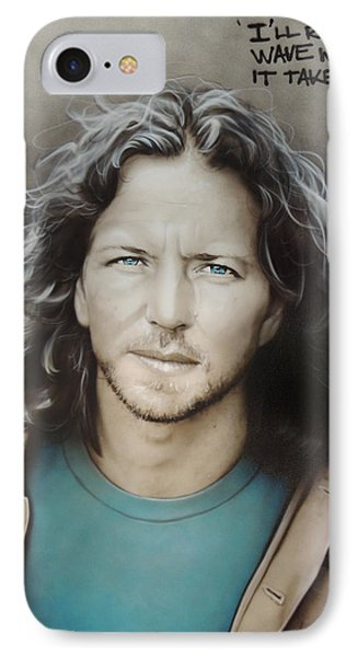 ' Eddie Vedder ' IPhone Case by Christian Chapman Art