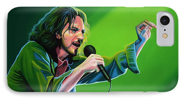 Eddie Vedder Of Pearl Jam IPhone Case by Paul Meijering