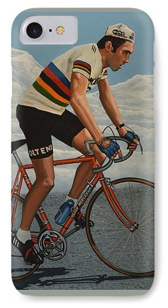 Eddy Merckx IPhone Case by Paul Meijering