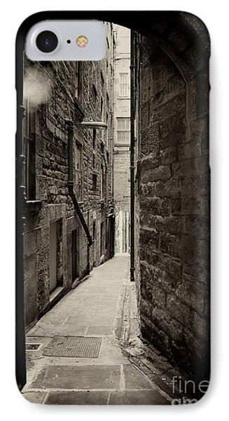 Edinburgh Alley Sepia Phone Case by Jane Rix