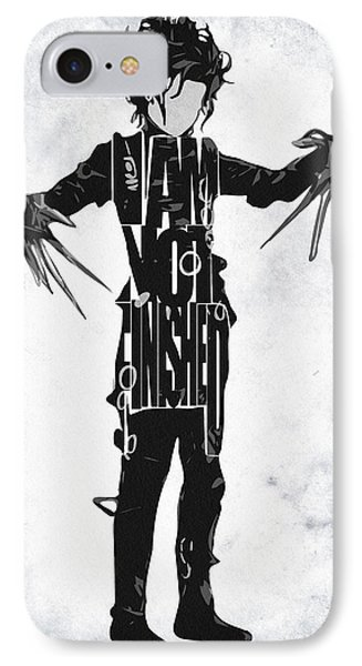 Edward Scissorhands - Johnny Depp IPhone Case by Ayse Deniz