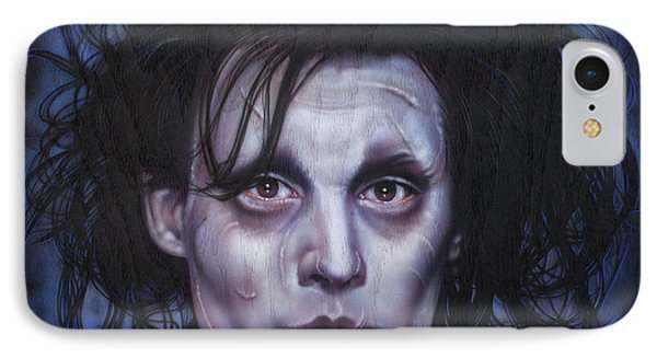 Edward Scissorhands IPhone Case by Tim  Scoggins