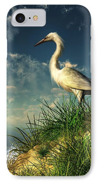 Egret In The Dunes IPhone 7 Case by Daniel Eskridge