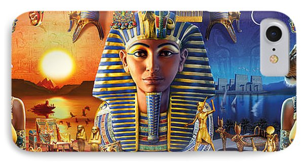Egyptian Triptych 2 IPhone Case by Andrew Farley