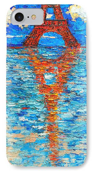 Eiffel Tower Abstract Impression Phone Case by Ana Maria Edulescu