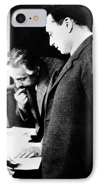 Einstein And Pauli IPhone Case by Emilio Segre Visual Archives/american Institute Of Physics