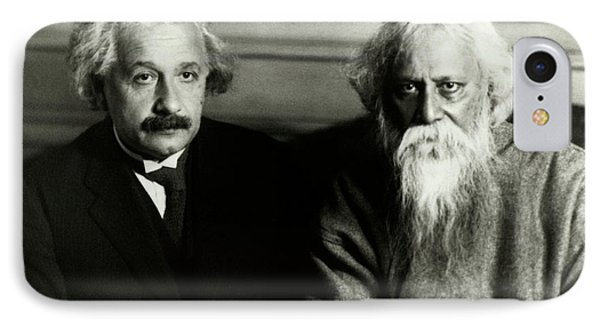Einstein And Tagore IPhone Case by Emilio Segre Visual Archives/american Institute Of Physics