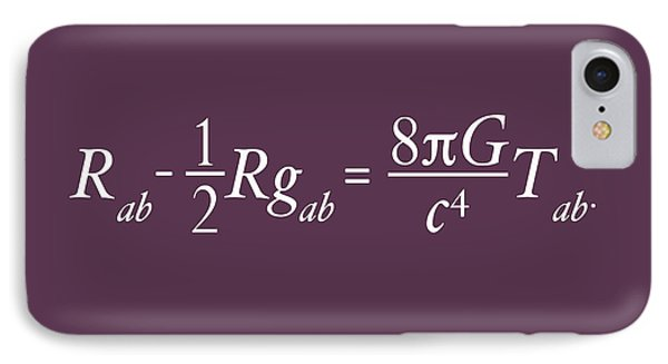 Einstein's Theory Of Relativity IPhone Case by Michael Tompsett