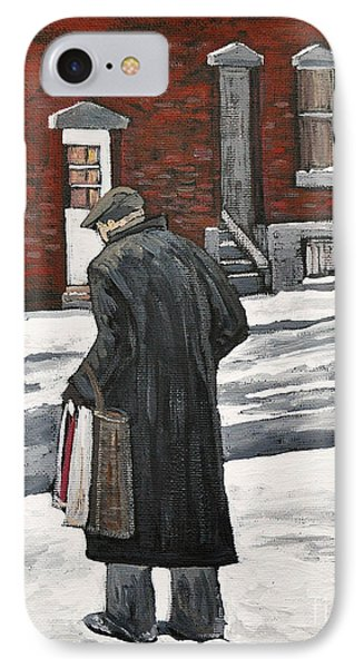 Elderly Gentleman  In Pointe St. Charles Phone Case by Reb Frost