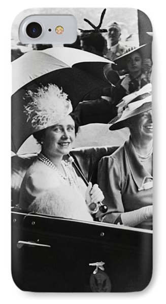 Eleanor Roosevelt & The Queen IPhone Case by Underwood Archives